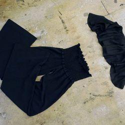 Blue Life kiss me crop top (black), $110 and perfect pant, $92