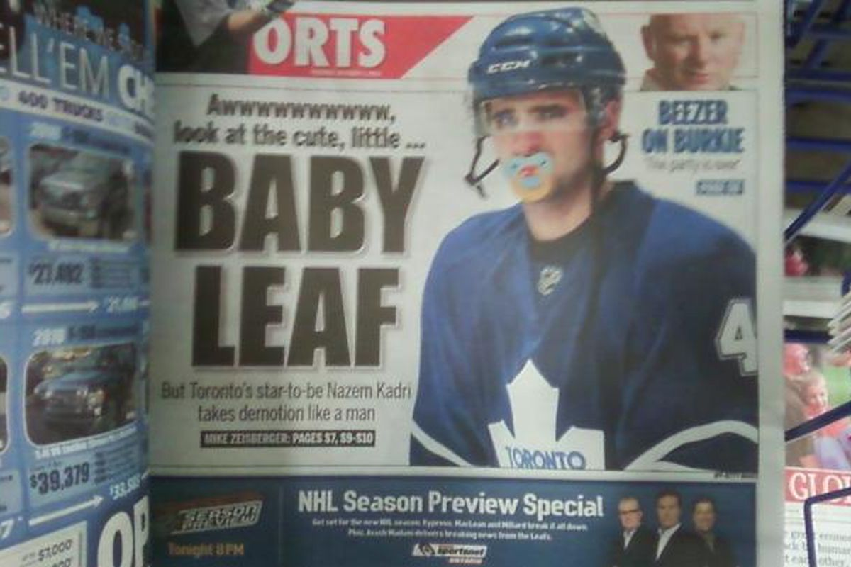 """The Toronto Sun Sports section courtesy of <a href=""""http://www.leafshq.com"""" target=""""new"""">Jeffler</a>"""