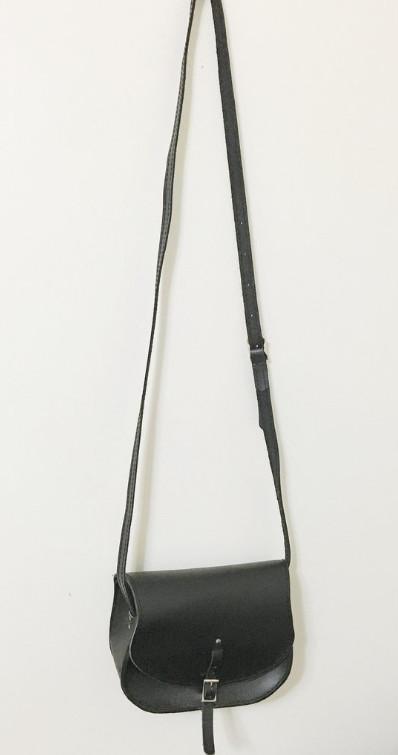 Black saddle crossbody bag