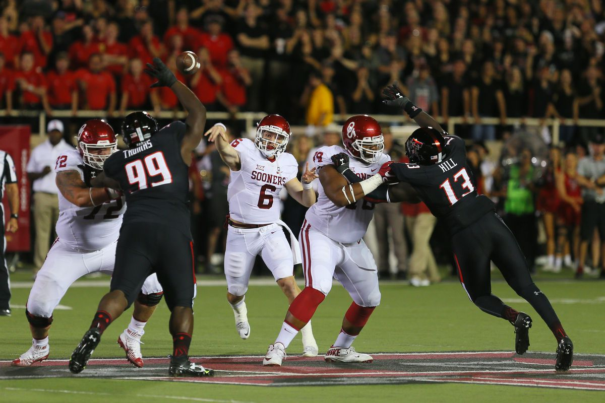 NCAA FOOTBALL: OCT 22 Oklahoma at Texas Tech