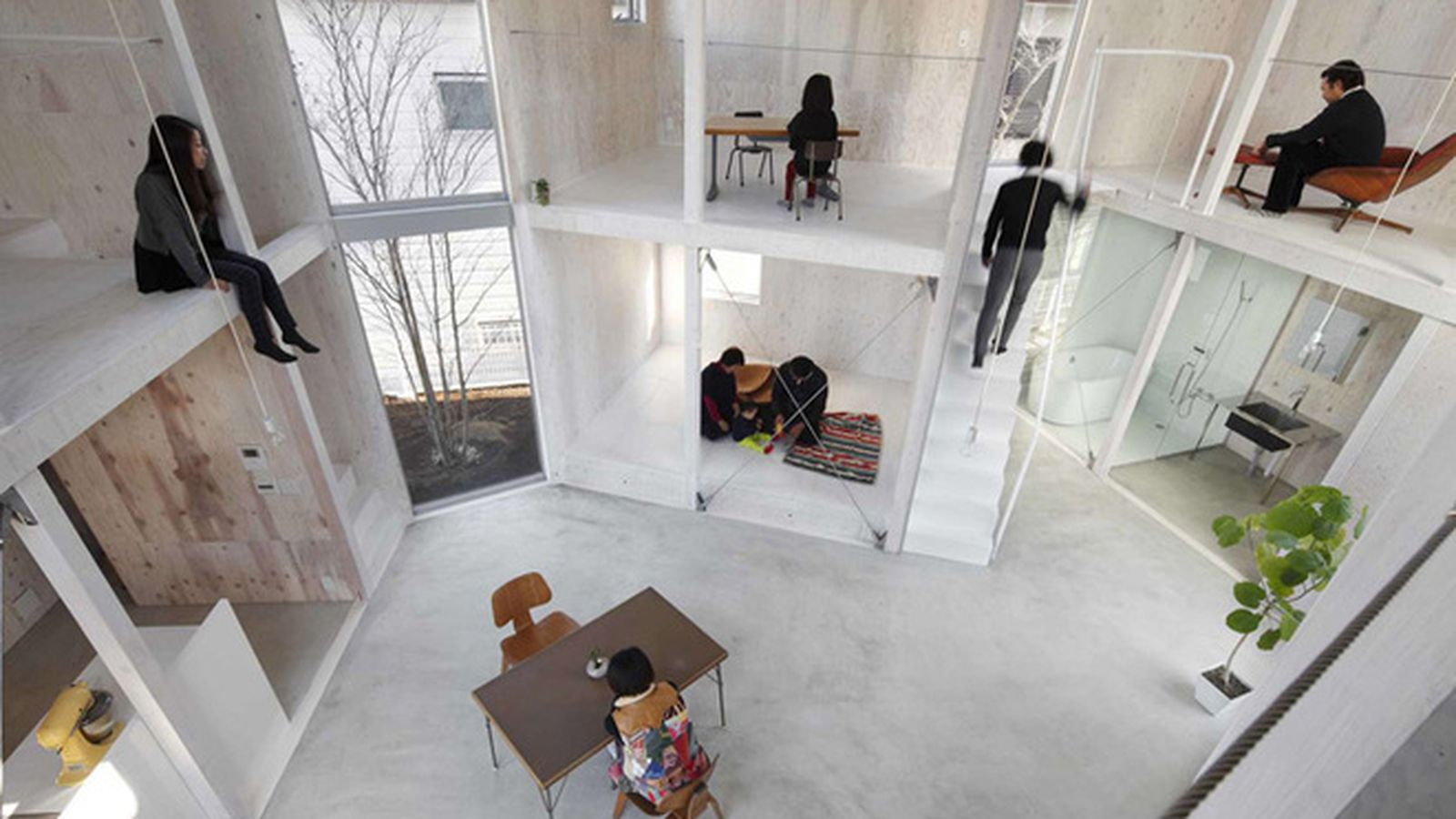 Could You Live in This Intentionally Wall-Free House? - Curbed