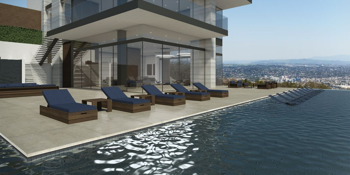 View of house from the pool