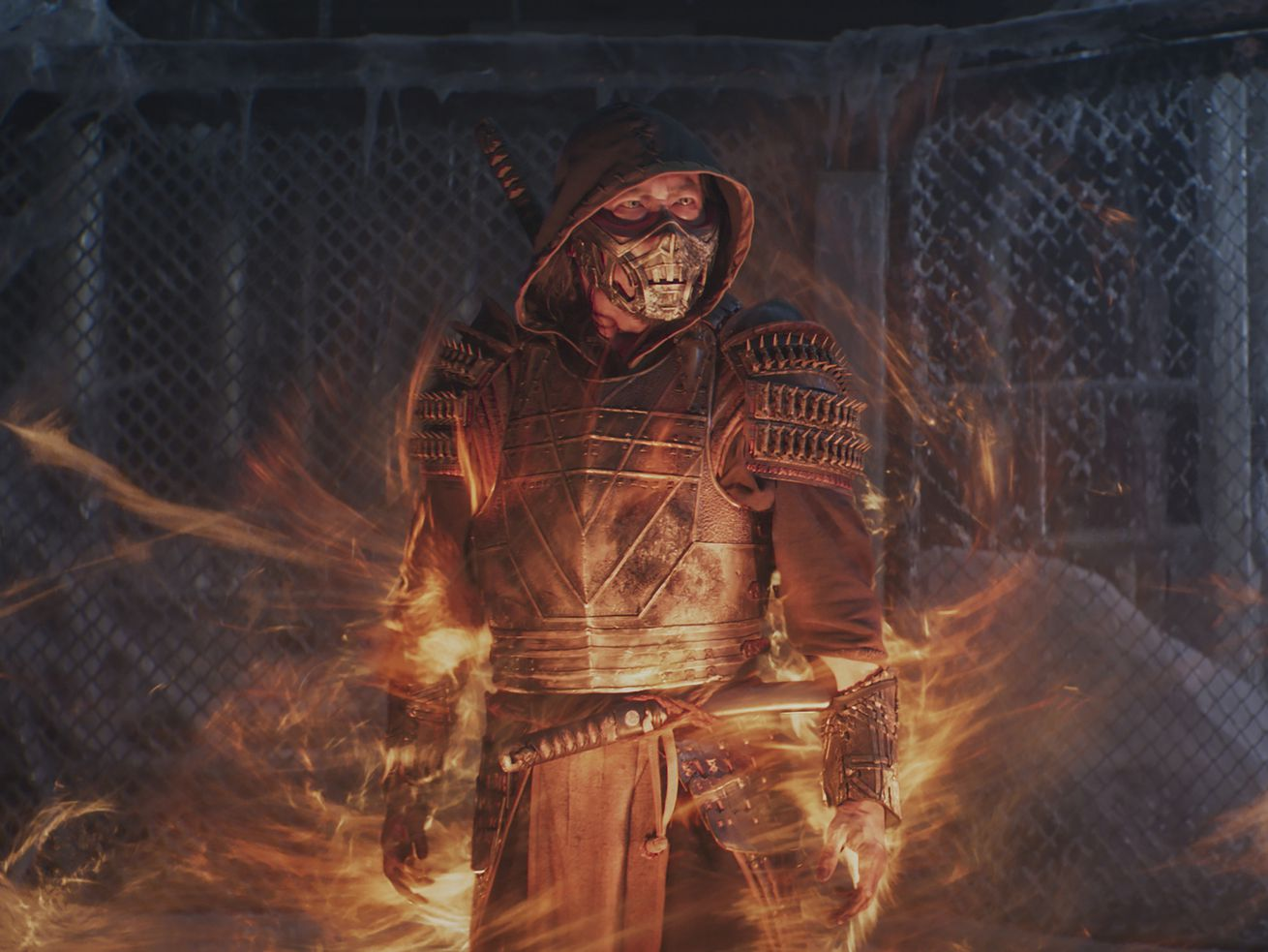 """This image released by Warner Bros. Pictures shows Hiroyuki Sanada in a scene from the feature film """"Mortal Kombat."""""""