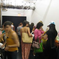 Shoppers at the first day of the sample sale