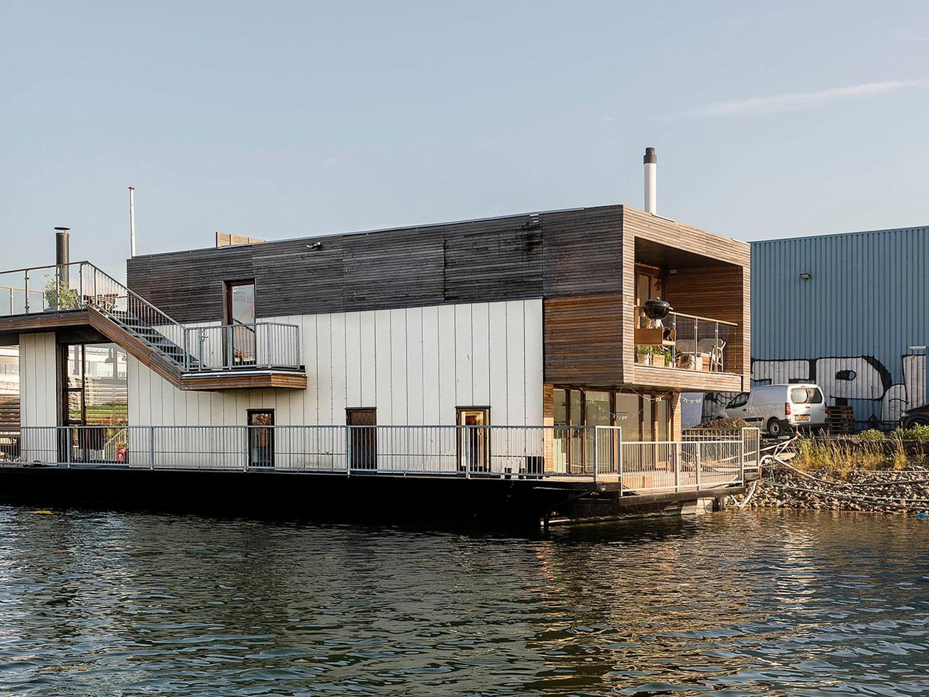 Luxe Danish houseboat with terrace yours for $925K