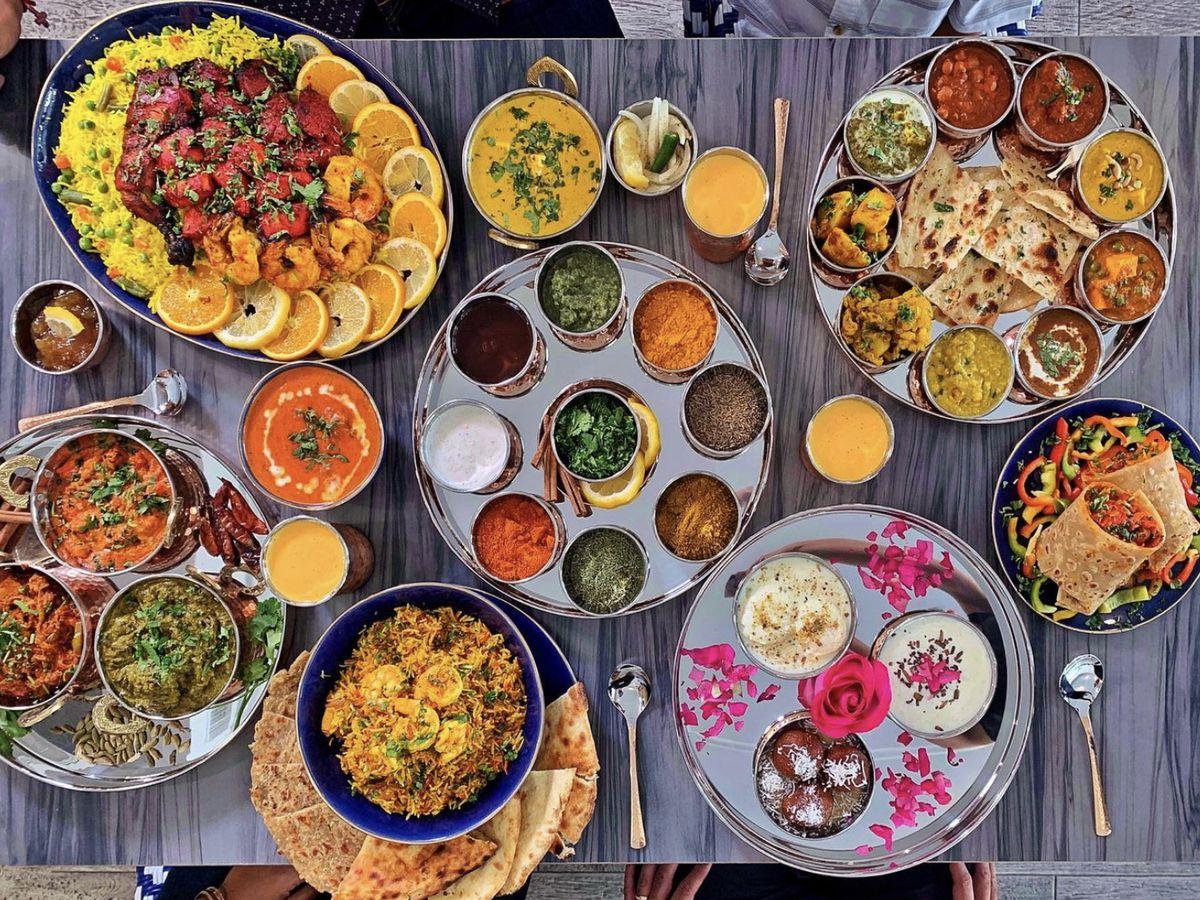 Bombay Beach restaurant assortment platters