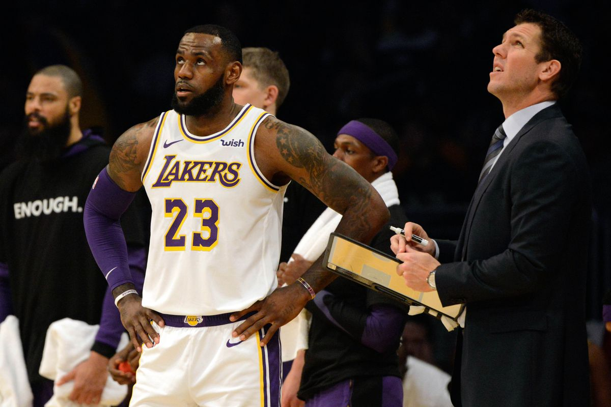 a10eb9080eb Luke Walton says Lakers have to prepare like LeBron James may not be back  for a while