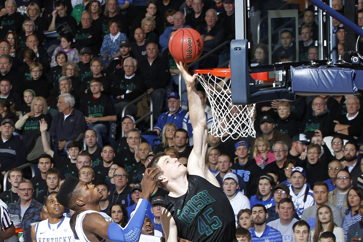 Notre Dame's Jack Cooley schooled the 'Cats in the Irish's Thursday night win.