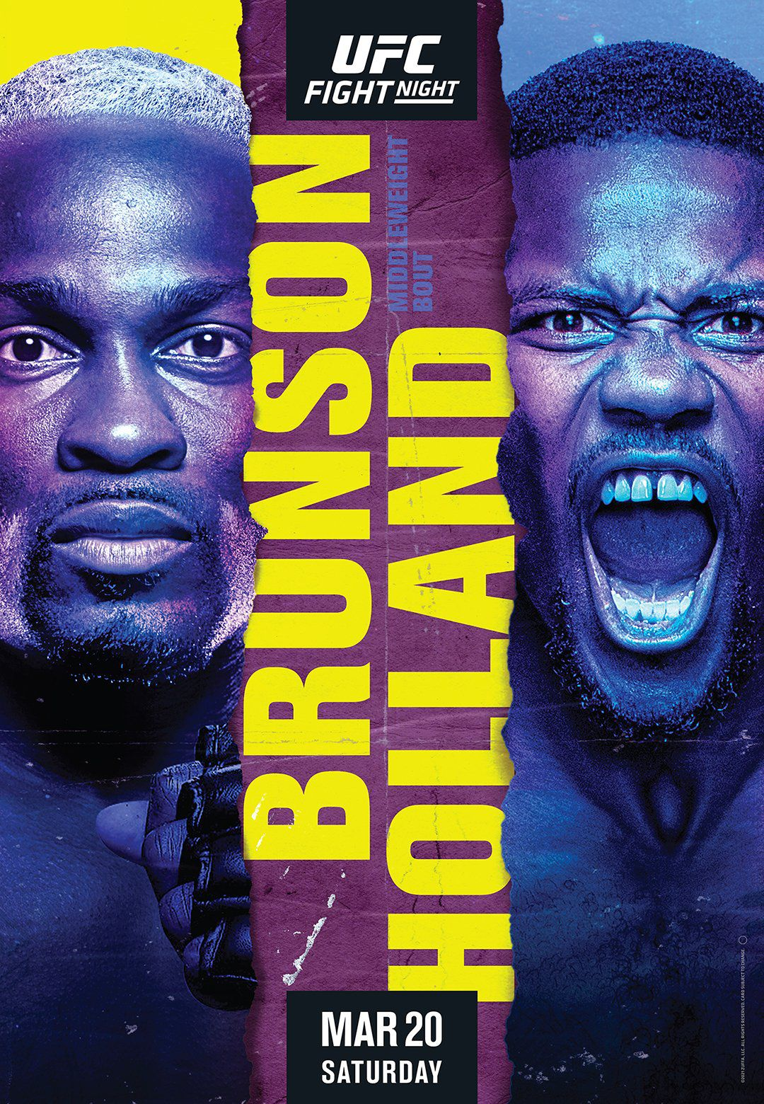 UFC Vegas 22 poster drops for 'Brunson vs Holland' on March 20 -  MMAmania.com