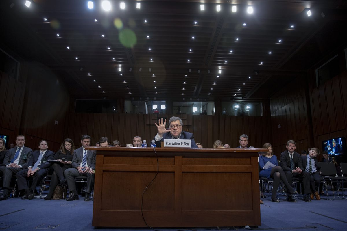 Senate Holds Confirmation Hearing For Attorney General Nominee William Barr