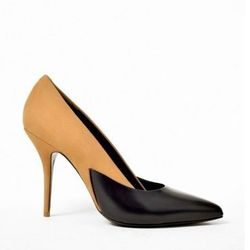 """Alexander Wang Cicely camel nuback pump, <a href=""""http://www.shopbird.com/product.php?productid=29663&cat=768&manufacturerid=&page=1"""">$229</a> (from $575)"""
