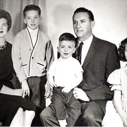 Elder Thomas S. Monson, newly sustained to the Quorum of the Twelve, is pictured with his wife, Sister Frances Johnson Monson, and their children, Thomas Lee, Clark Spencer and Ann Frances on Oct. 4, 1963. Elder Monson was only 36 years old at the time.l