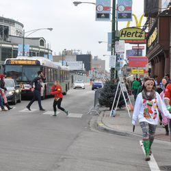 TBOX participants at the corner of Clark & Waveland