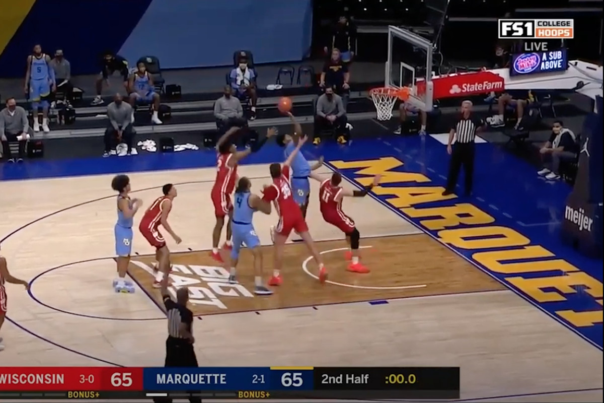 Justin Lewis Tip In to beat #4 Wisconsin