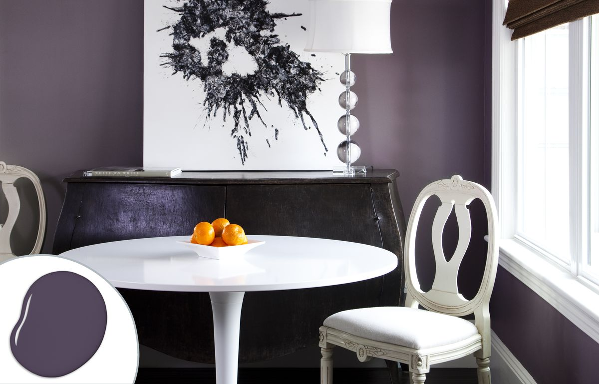 Charcoal Purple Dining Room Paint Color