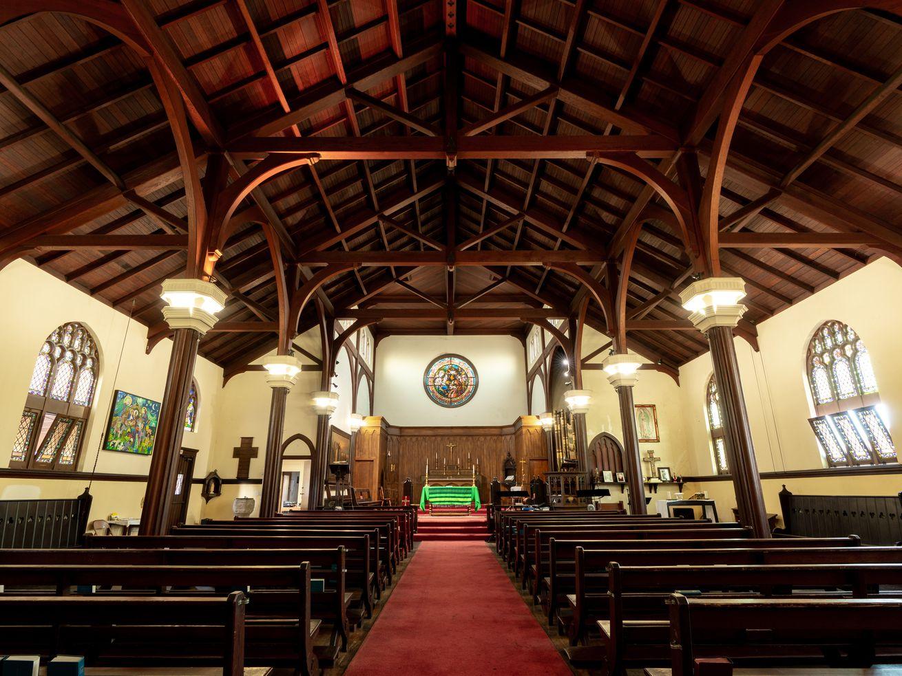 A 2018 photo show's the church's interior.