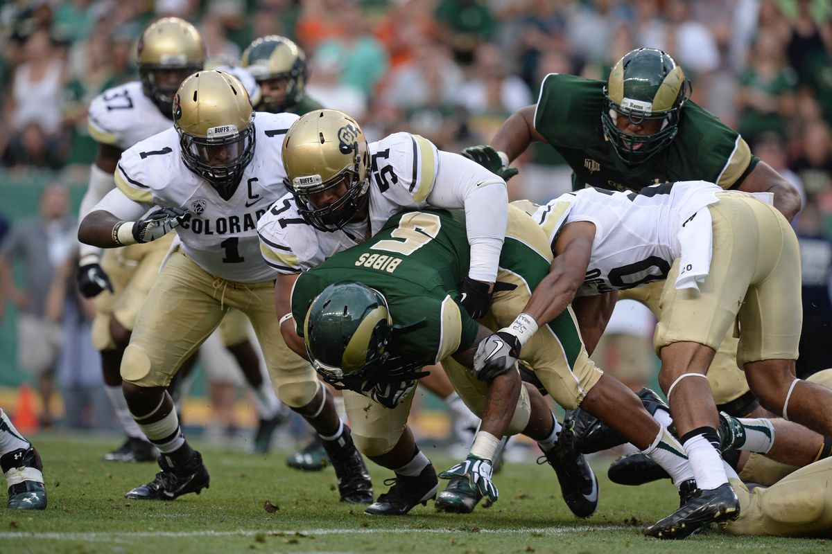 The Buffs' defense will have to be stout at the line of scrimmage against the Rams' offense.