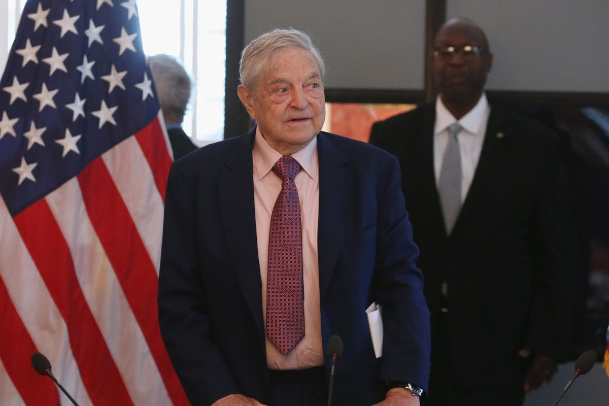 Billionaire investor and philanthropist George Soros speaks at an event in Washington, DC in May 2015.