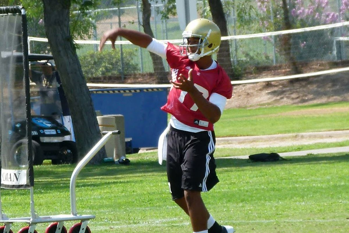 Brett Hundley, U.C.L.A.'s new starting QB, will have some growing pains, but has the tools to grow up very quickly, too.  <em>(photo credit: Telemachus)</em>