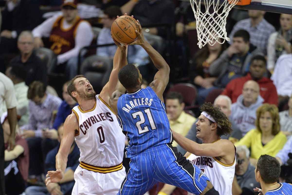 Kevin Love, Maurice Harkless, and Anderson Varejão