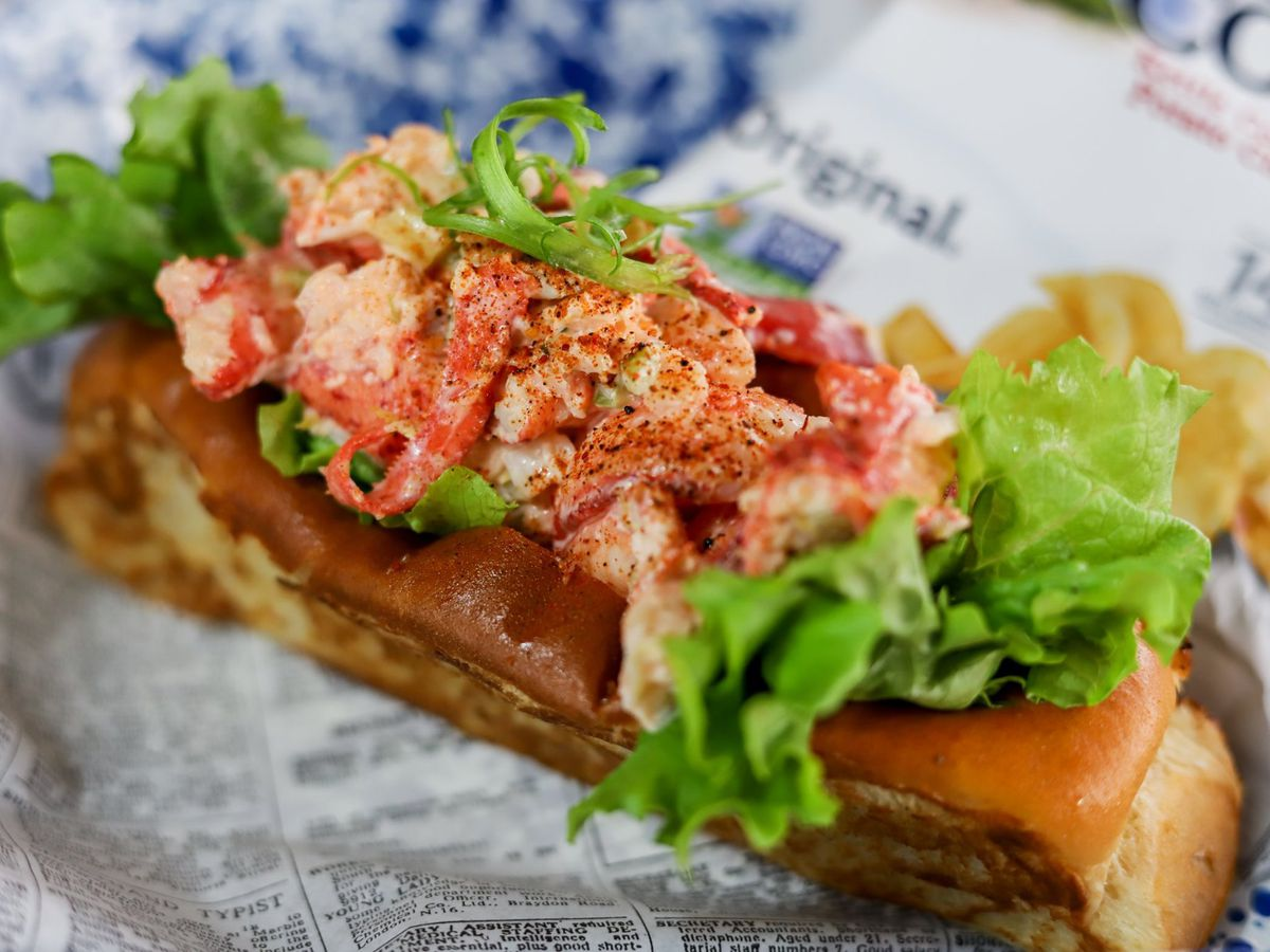 A lobster roll at Garbo's