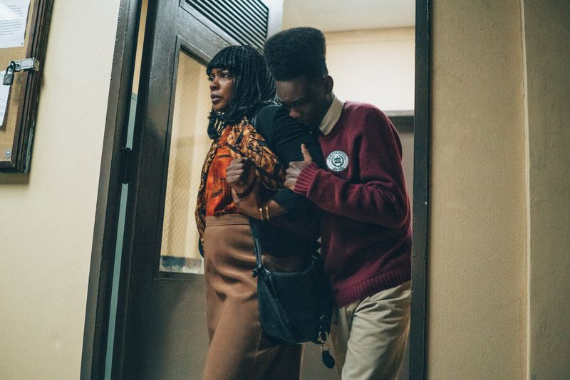 Aunjanue Ellis and Ethan Herisse in When They See Us.