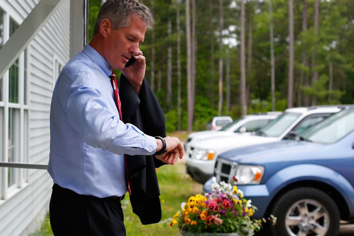 Former Sen. Scott Brown is running far ahead of his rivals for the Republican nomination for US Senate in New Hampshire.