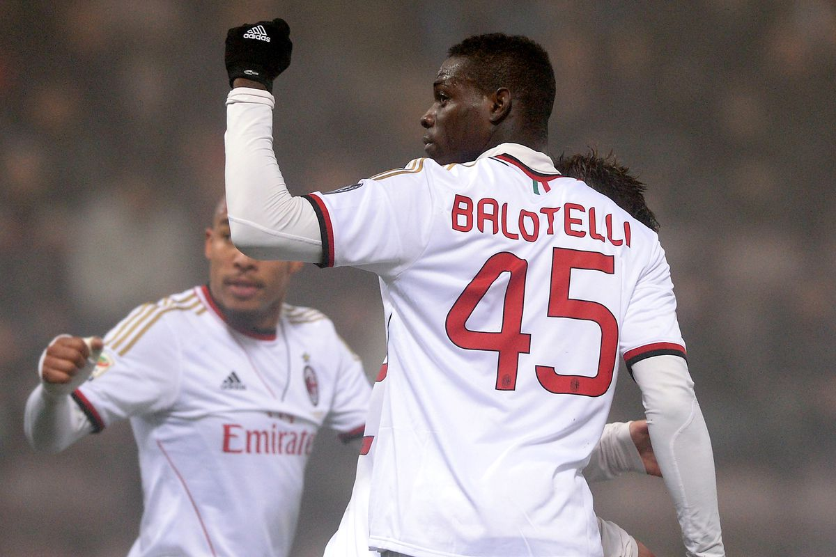 Mario Balotelli scored 30 goals in 54 matches in his first stint with Milan.