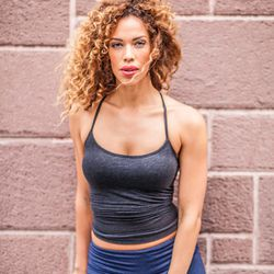 """<a href=""""http://ny.racked.com/archives/2013/08/12/hottest_trainer_contestant_13_layla_luciano.php""""><b>Layla Luciano</b></a>. Photo by <a href=""""http://peladopelado.com/"""">Driely S</a>"""