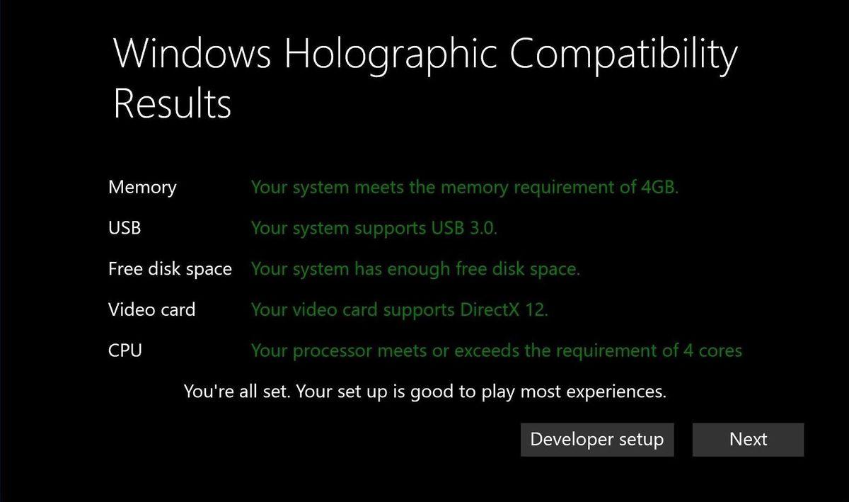 Microsoft reveals minimum PC specs for Windows 10 VR headsets - The