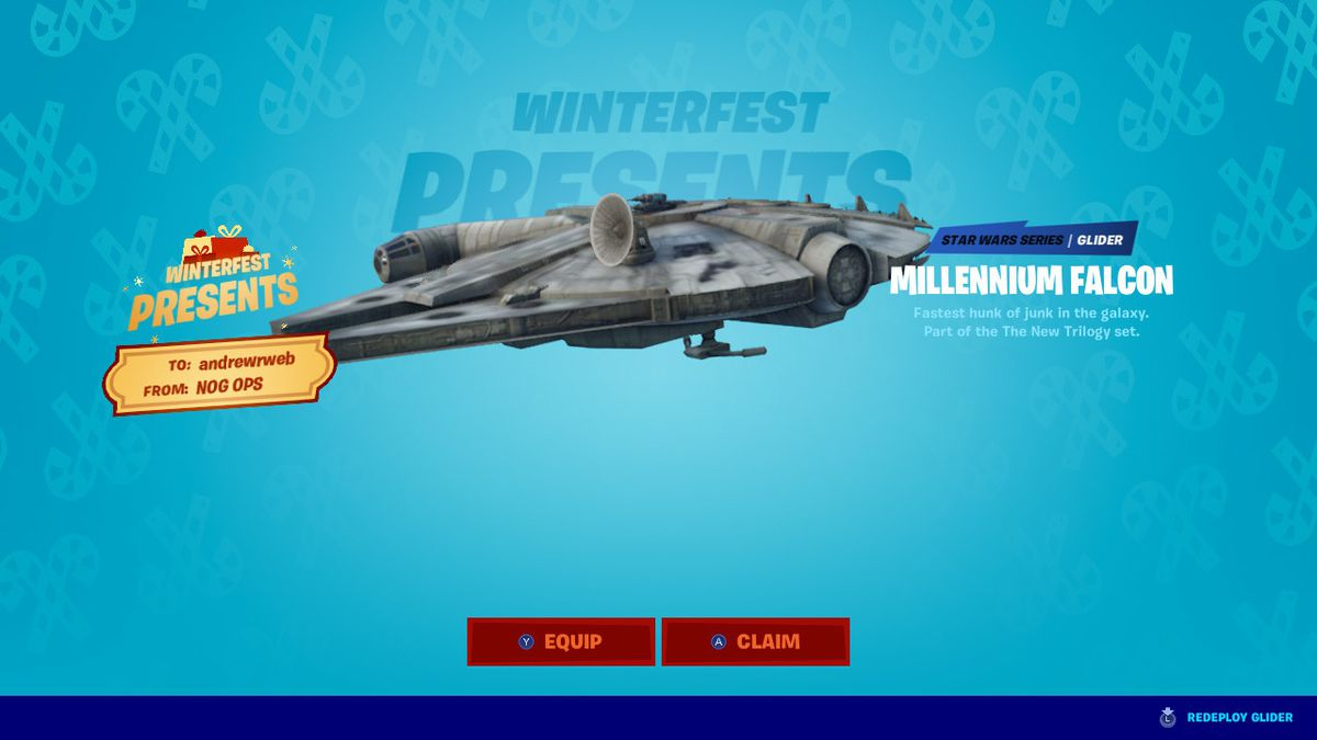 Fortnite S Winter Event Kicks Off Today With Two Weeks Of In Game Presents The Verge