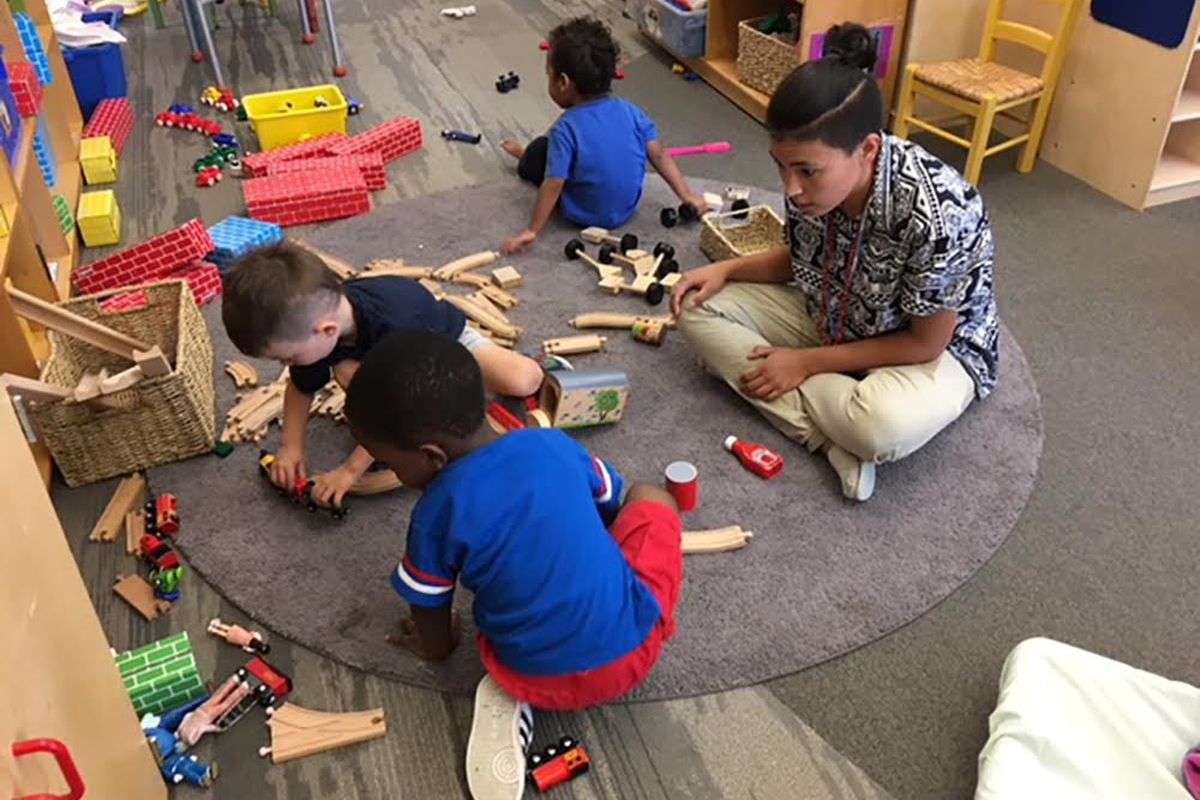 Teach For America corps member Ariel McPherson just began her preschool teaching job with Sewall Child Development Center in one of their satellite locations, the Dahlia Center for Health and Well Being in the North Park Hill neighborhood of Denver.