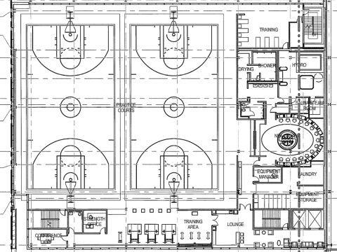 Sonics Arena Practice Courts