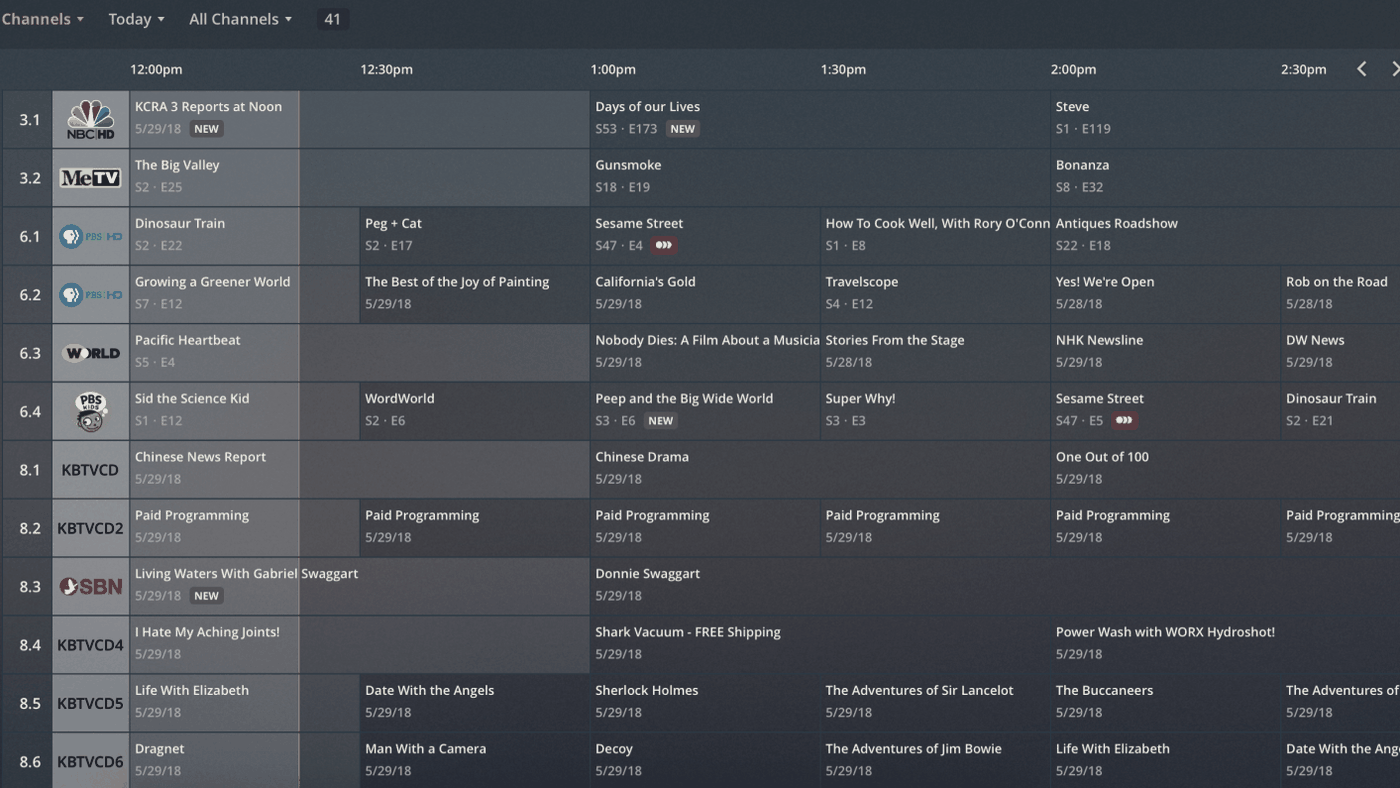 Plex users can now browse live TV with a traditional grid-style