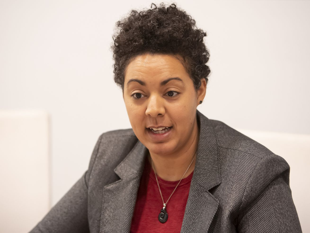 49th Ward aldermanic candidate Maria Hadden met with the Sun-Times Editorial Board Monday, January 14, 2019.