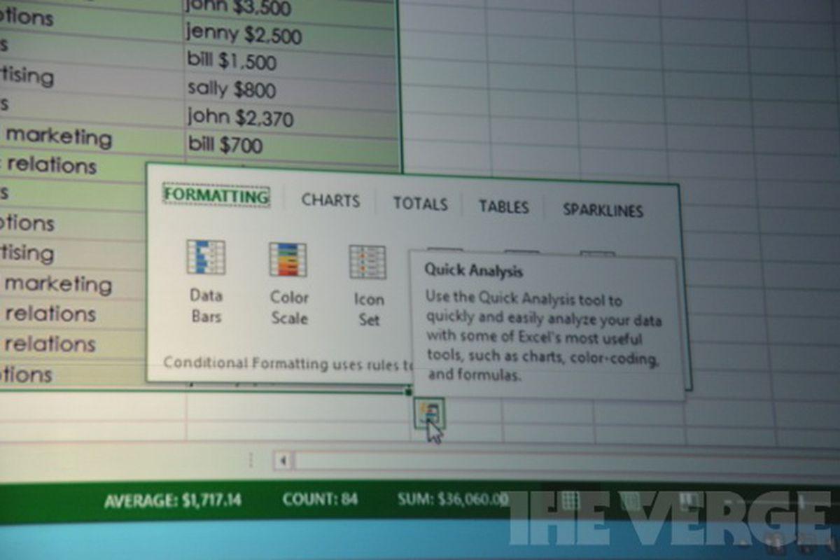 Excel 2013 stock