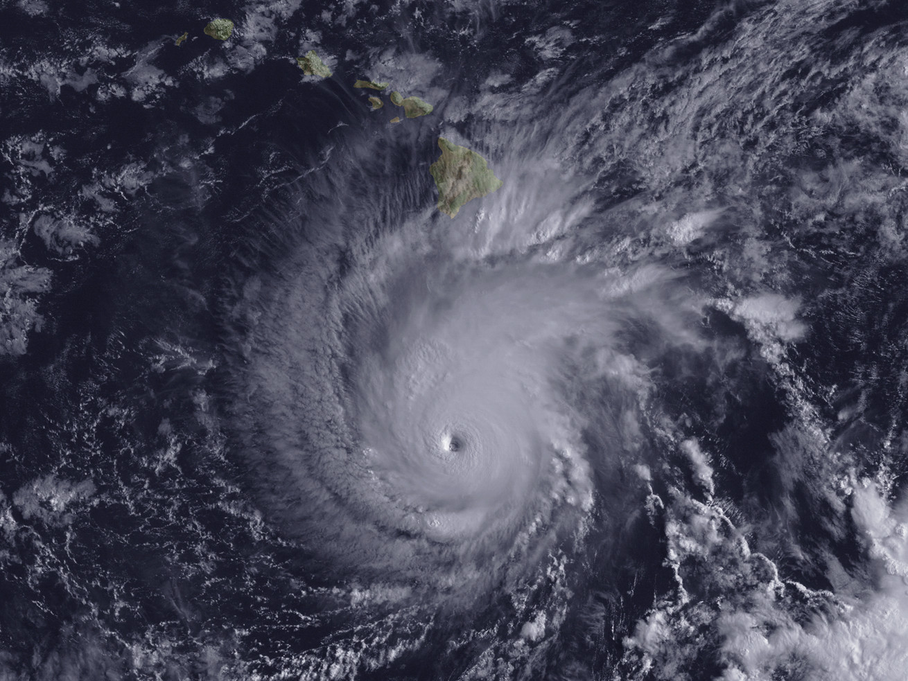 Hurricane Lane, as seen from space.