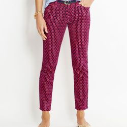 """Another cold-snap option, these anchor-print ankle cords, $108 at <a href=""""http://www.vineyardvines.com/womens-pants/anchor-print-ankle-cords/2P0126.html?start=4&q=anchor&dwvar_2P0126_color=958"""">Vineyard Vines</a>, are a subtle take on a sailor print."""