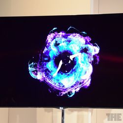 lg 55 inch oled tv first video and pictures the verge. Black Bedroom Furniture Sets. Home Design Ideas