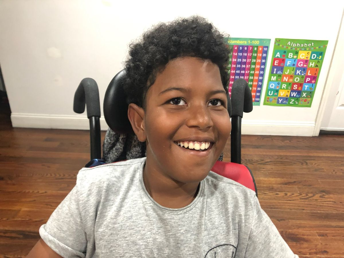 Special needs student Jayden Peguero, 10, had to wait months for services, his mother charges.