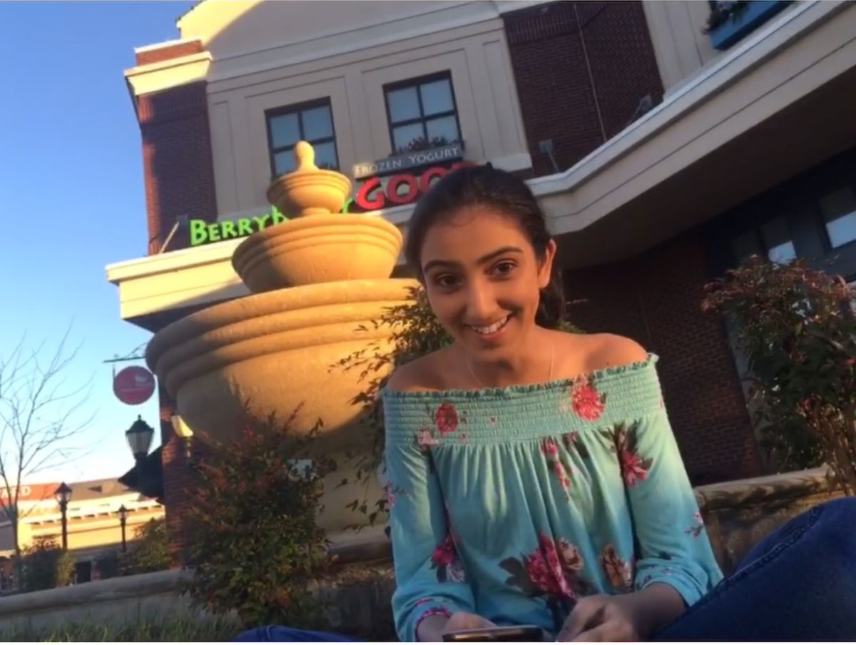 Eighth-grader Simran Bains is a student leader at Schilling Farms Middle School in Collierville.