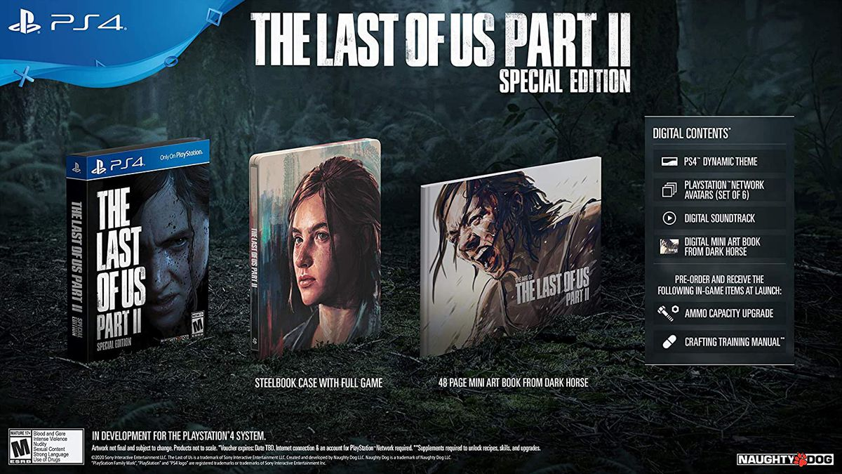 The Last of Us Part 2 Special Edition components
