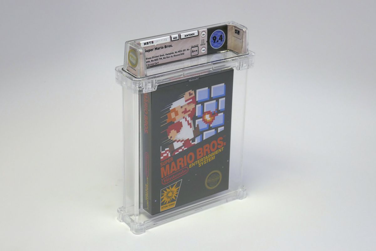 Mint copy of Super Mario Bros  sells for $100,150 at auction - The Verge