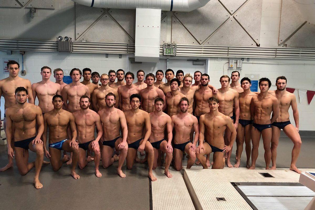 College Swim Team Boys Swimming Naked