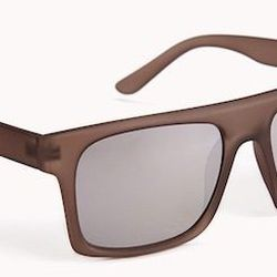 """<strong>21 Men</strong> Matte Sunglasses in Brown, <a href=""""http://www.forever21.com/Product/Product.aspx?BR=21men&Category=m_accessories&ProductID=1000075248&VariantID="""">$5.80</a> at Forever 21"""
