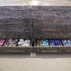 Drawers filled with project materials