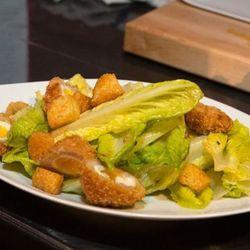 The Caesar salad with a Scotch egg