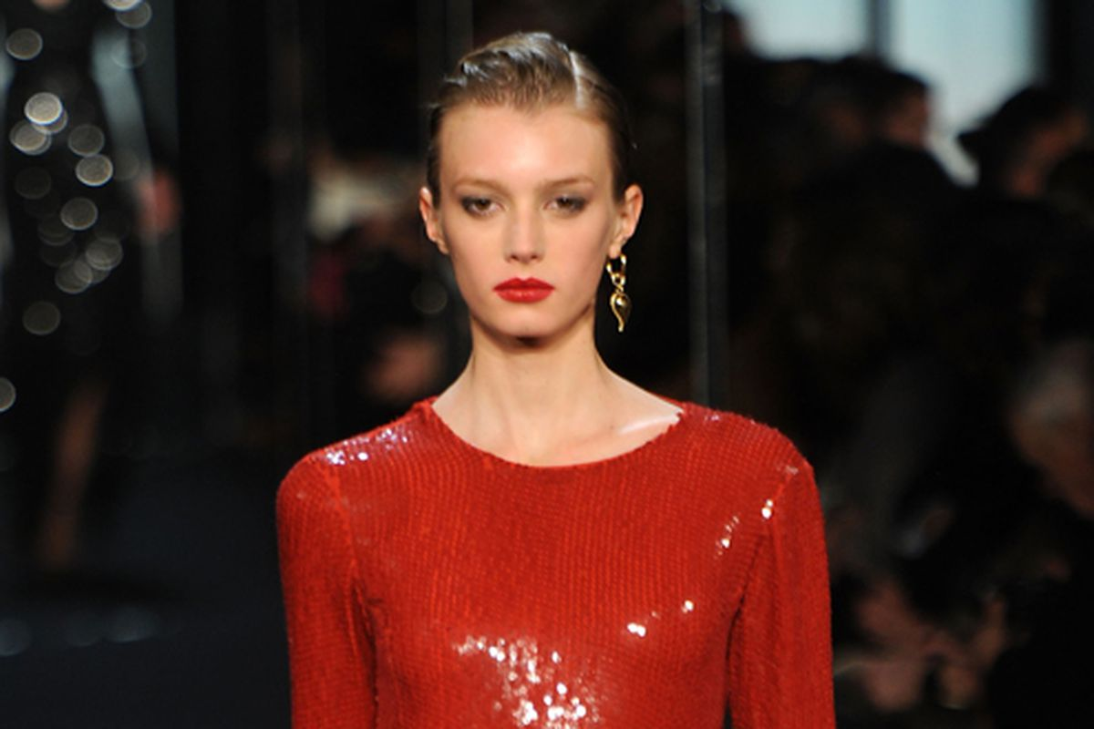 A look from DVF's fall 2011 show via Getty Images