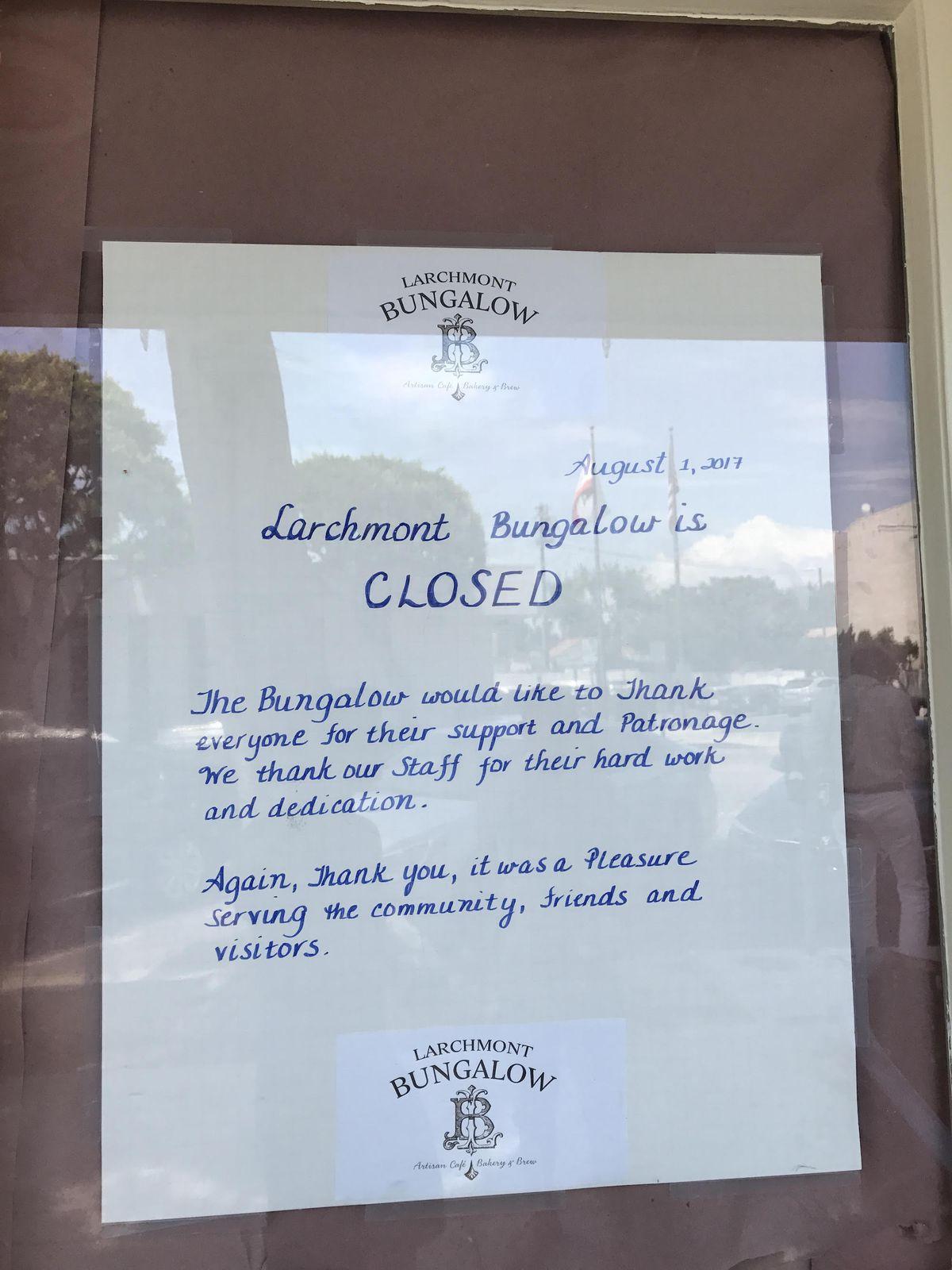 Larchmont Bungalows Abrupt Shutter Caps Off A Decade Long