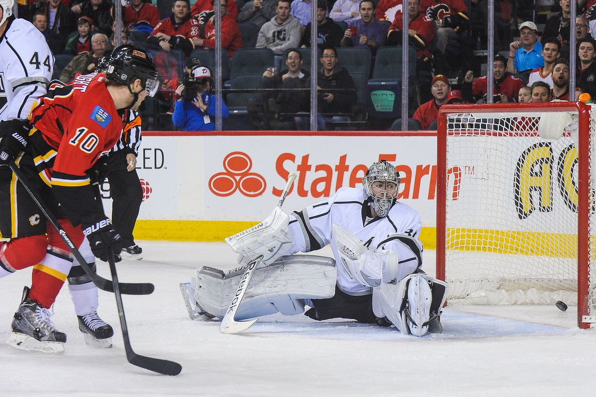 Corban Knight in Monday's 3-2 loss to the LA Kings.